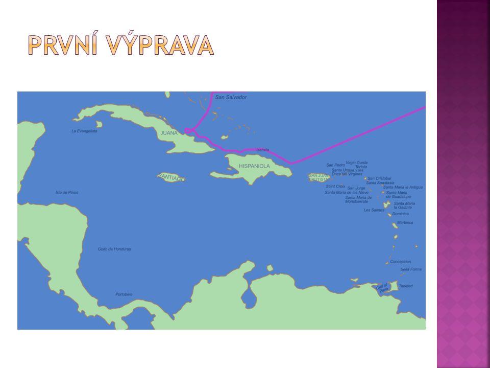 První výprava 3. srpna 1492 lodě – Santa Maria, Pinta a Nina