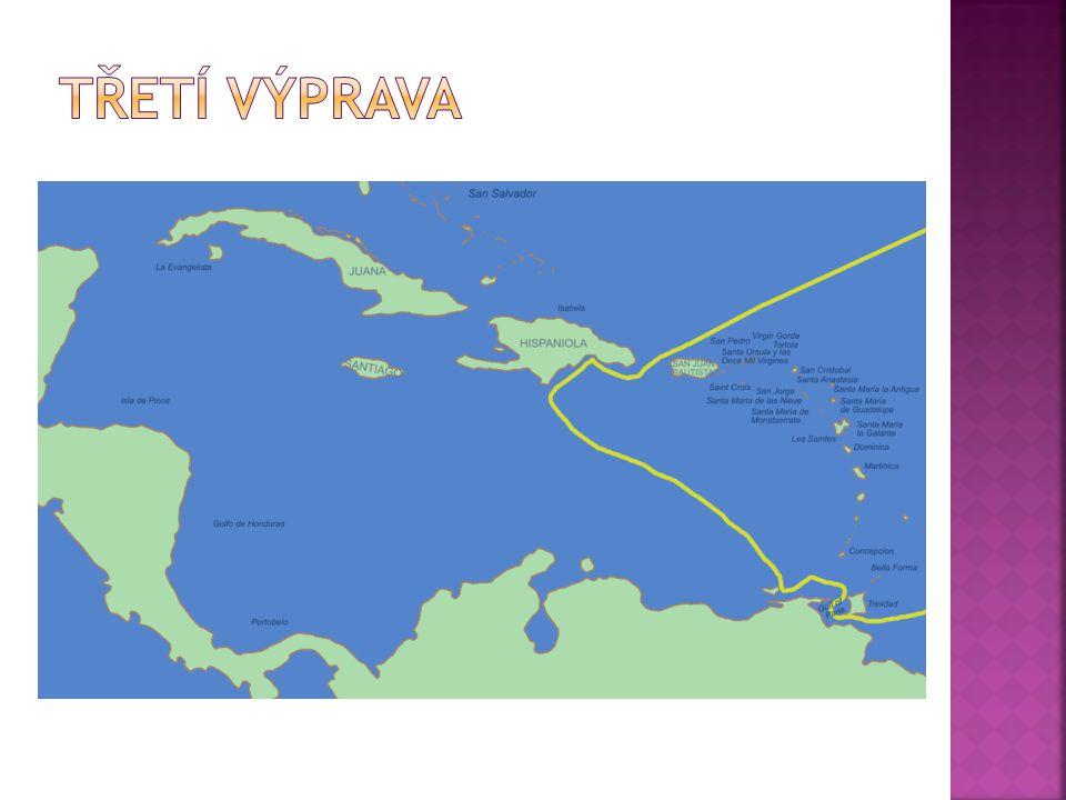 Třetí výprava 30. května 1498 objevil ostrov Trinidad