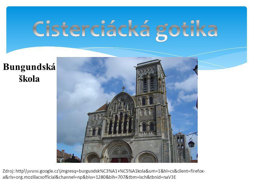 Cisterciácká gotika Bungundská škola