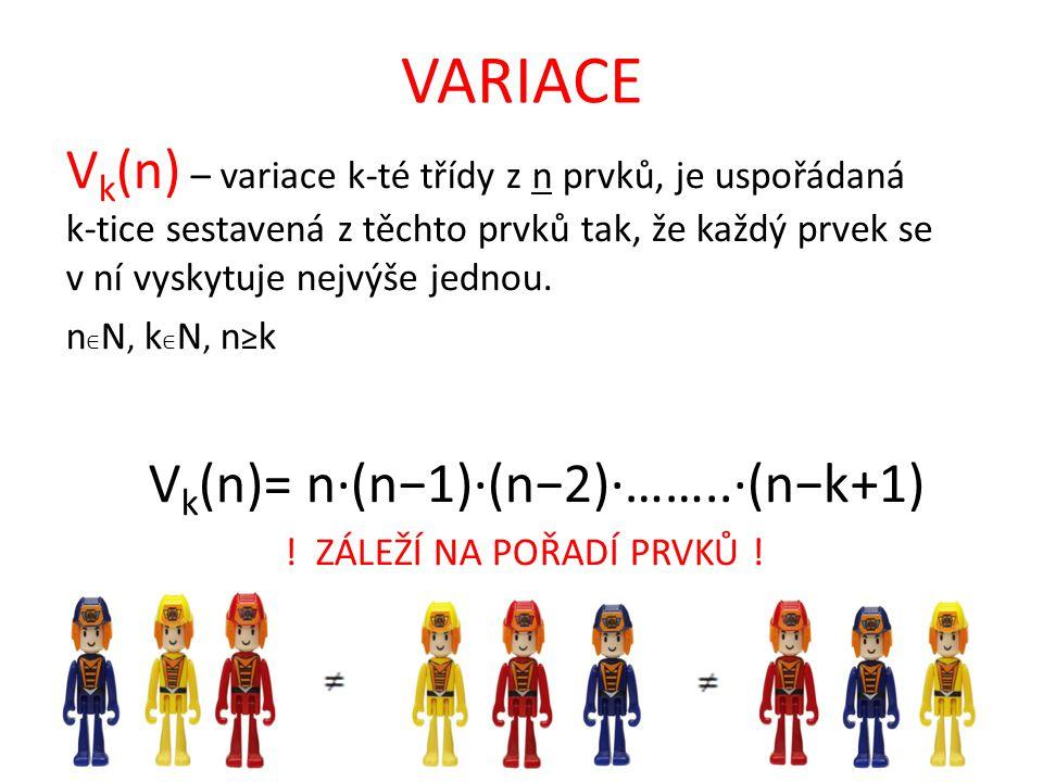 Vk(n)= n·(n−1)·(n−2)·……..·(n−k+1)