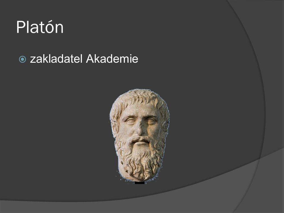 Platón zakladatel Akademie