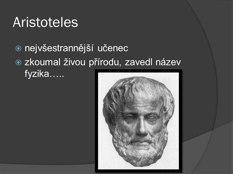 Aristoteles nejvšestrannější učenec