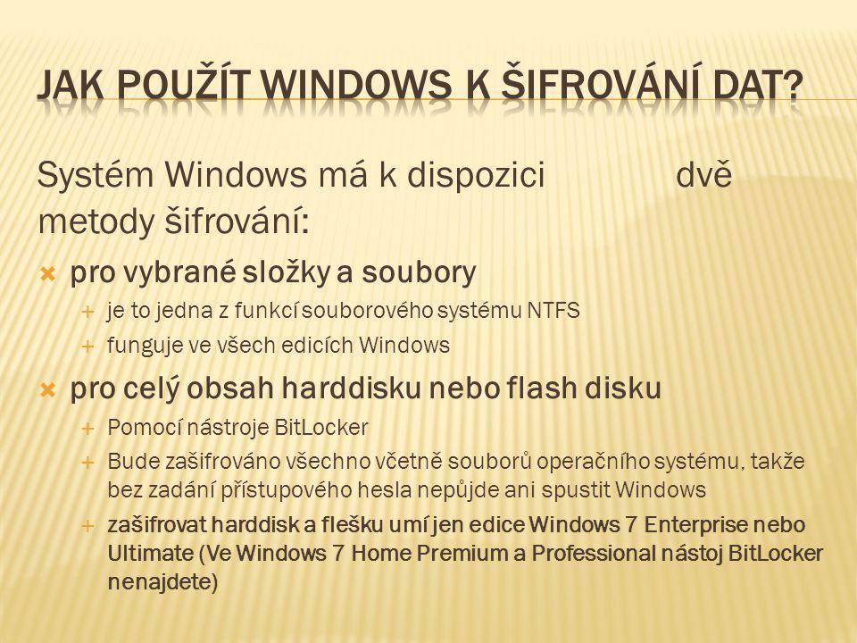 Jak použít Windows k šifrování dat