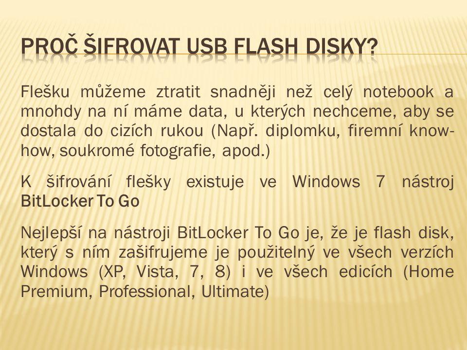 Proč šifrovat usb flash disky