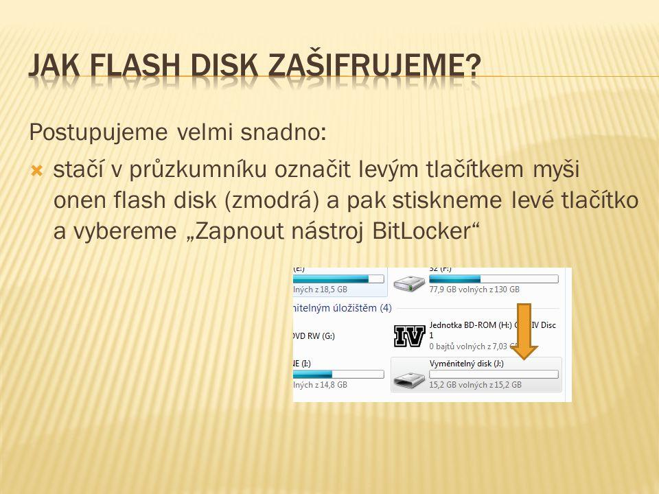 Jak flash disk zašifrujeme