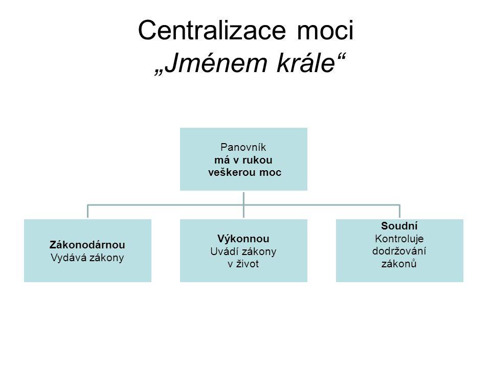 """Centralizace moci """"Jménem krále"""