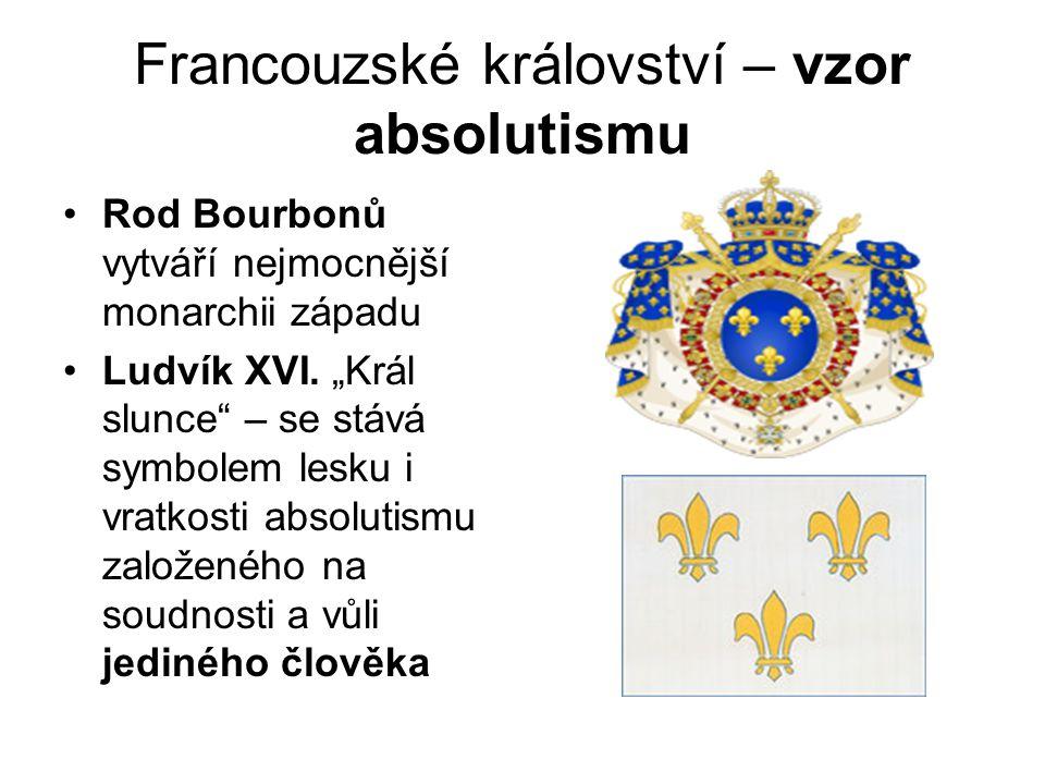 Francouzské království – vzor absolutismu