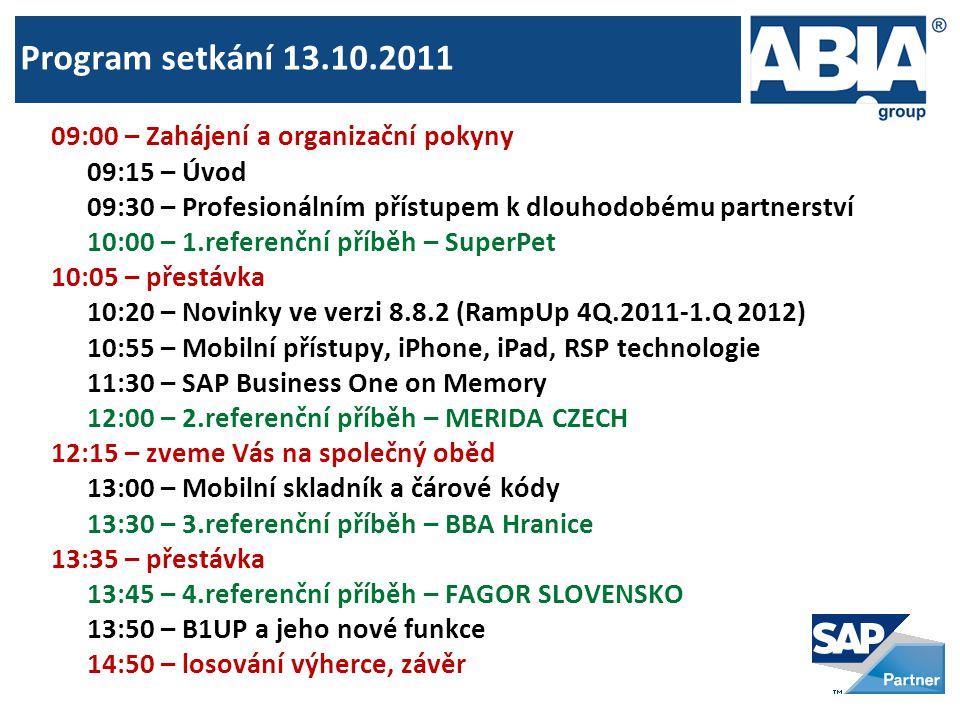Program setkání 13.10.2011