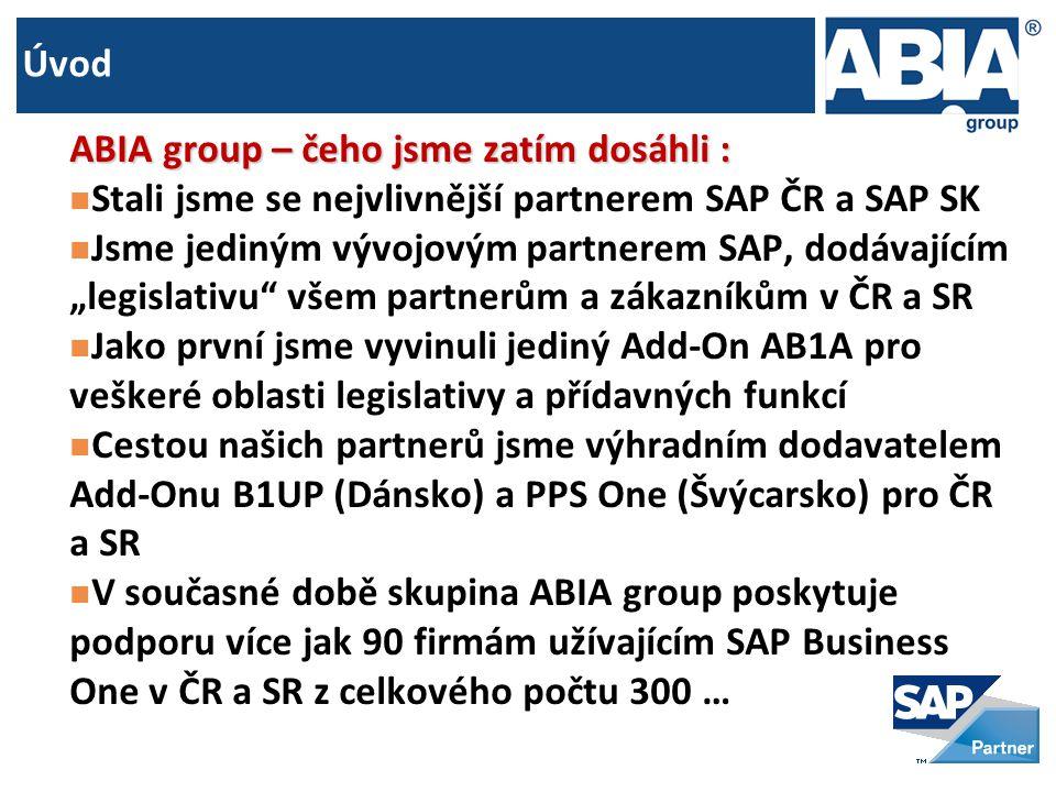 Úvod ABIA group – čeho jsme zatím dosáhli : Stali jsme se nejvlivnější partnerem SAP ČR a SAP SK.