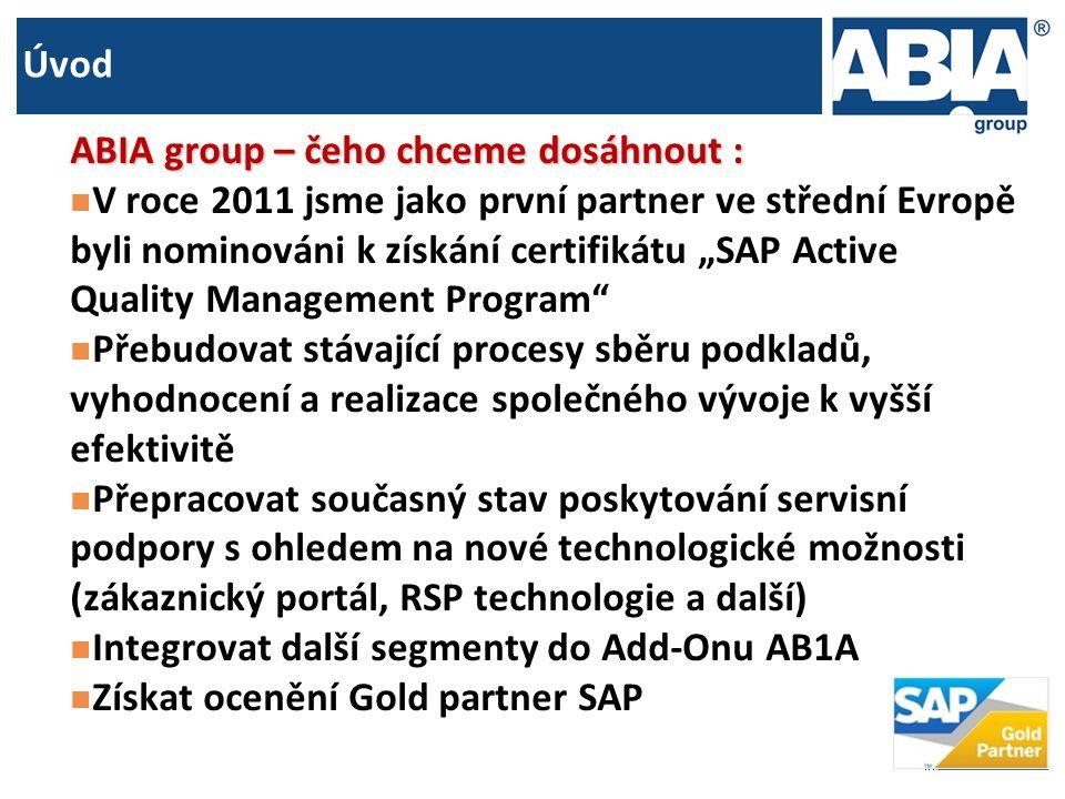 Úvod ABIA group – čeho chceme dosáhnout :