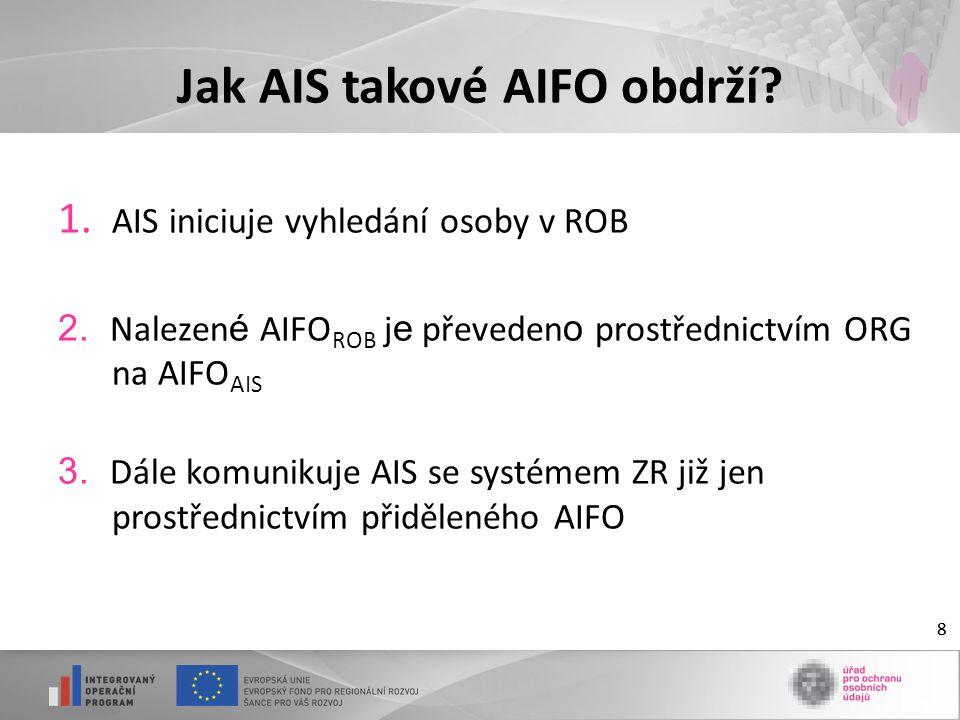 Jak AIS takové AIFO obdrží