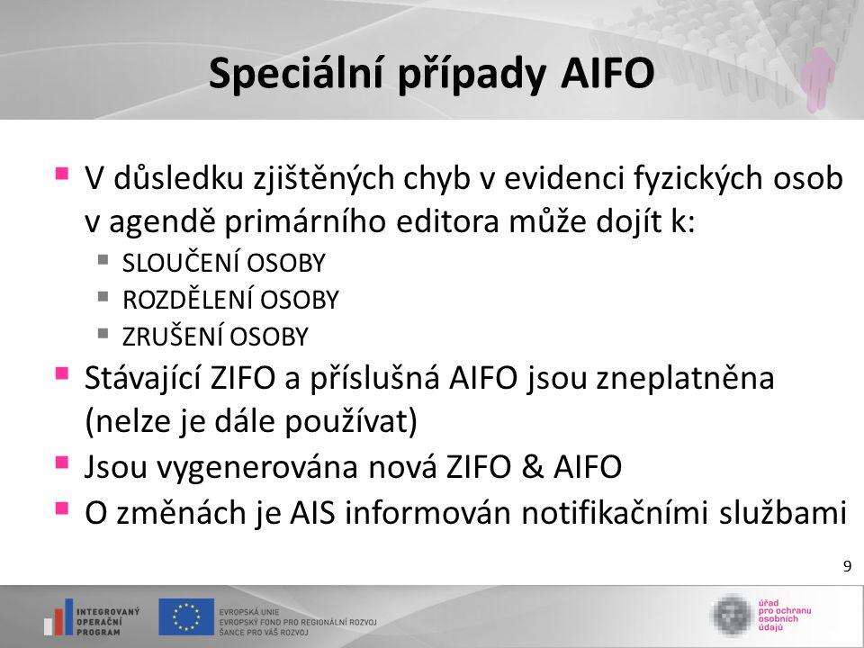 Speciální případy AIFO