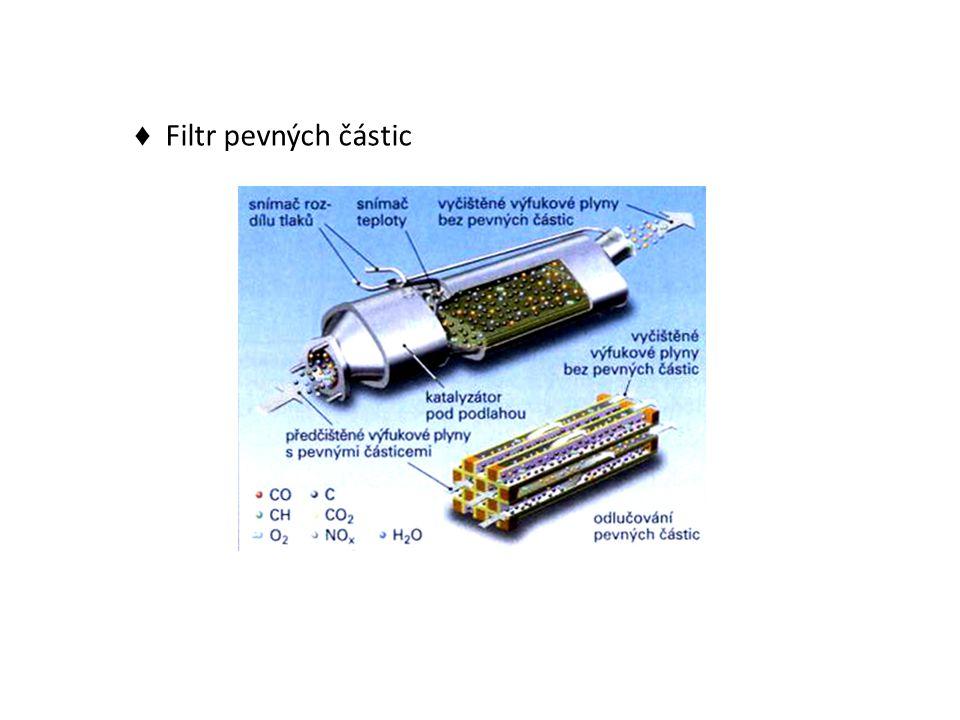 ♦ Filtr pevných částic