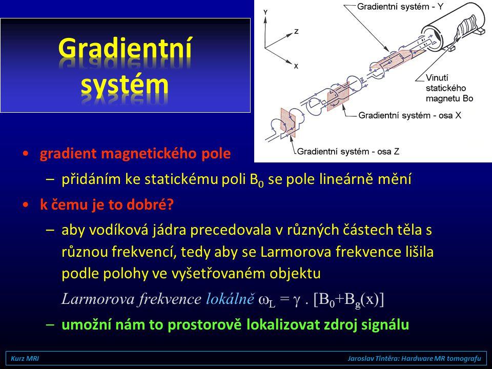 Gradientní systém gradient magnetického pole