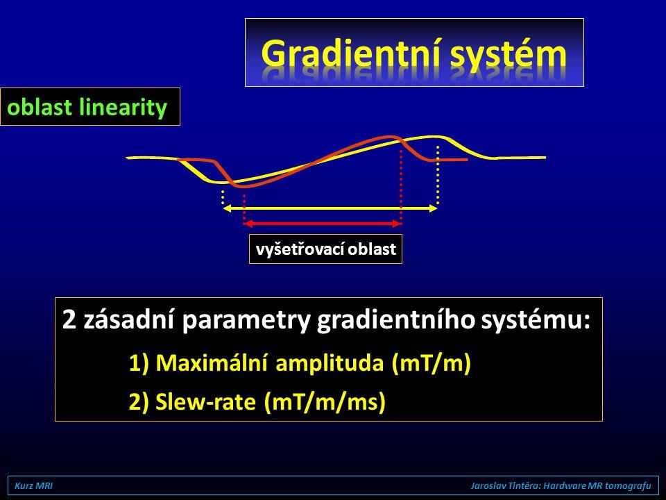 Gradientní systém 2 zásadní parametry gradientního systému: