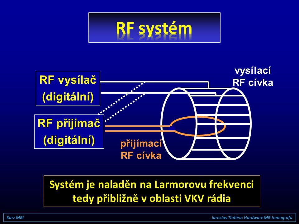 RF systém RF vysílač (digitální) RF přijímač (digitální)