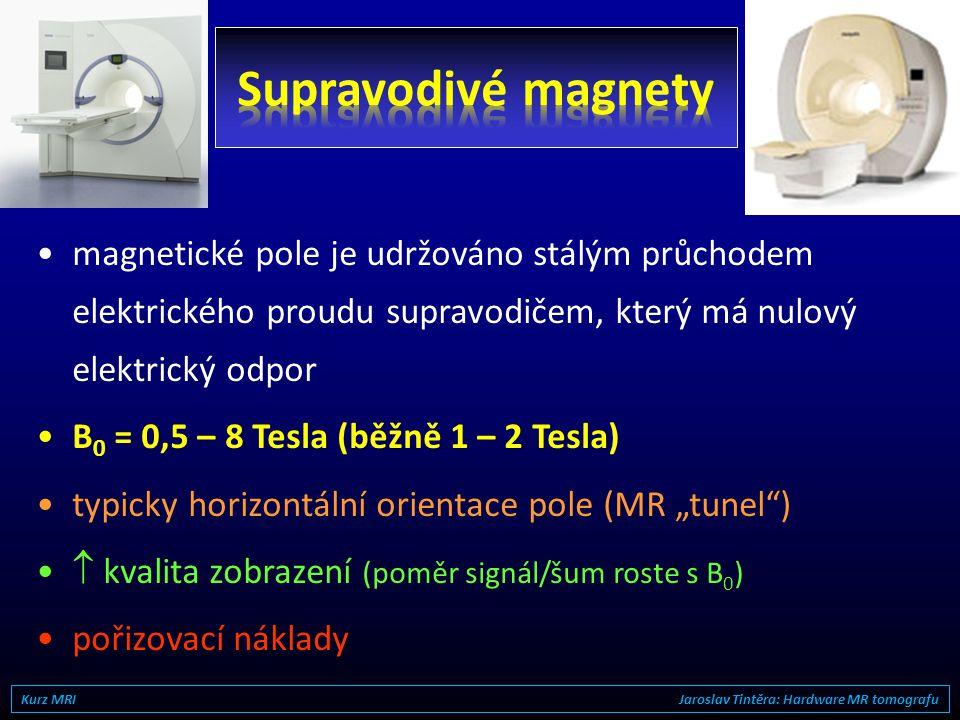 Supravodivé magnety magnetické pole je udržováno stálým průchodem elektrického proudu supravodičem, který má nulový elektrický odpor.