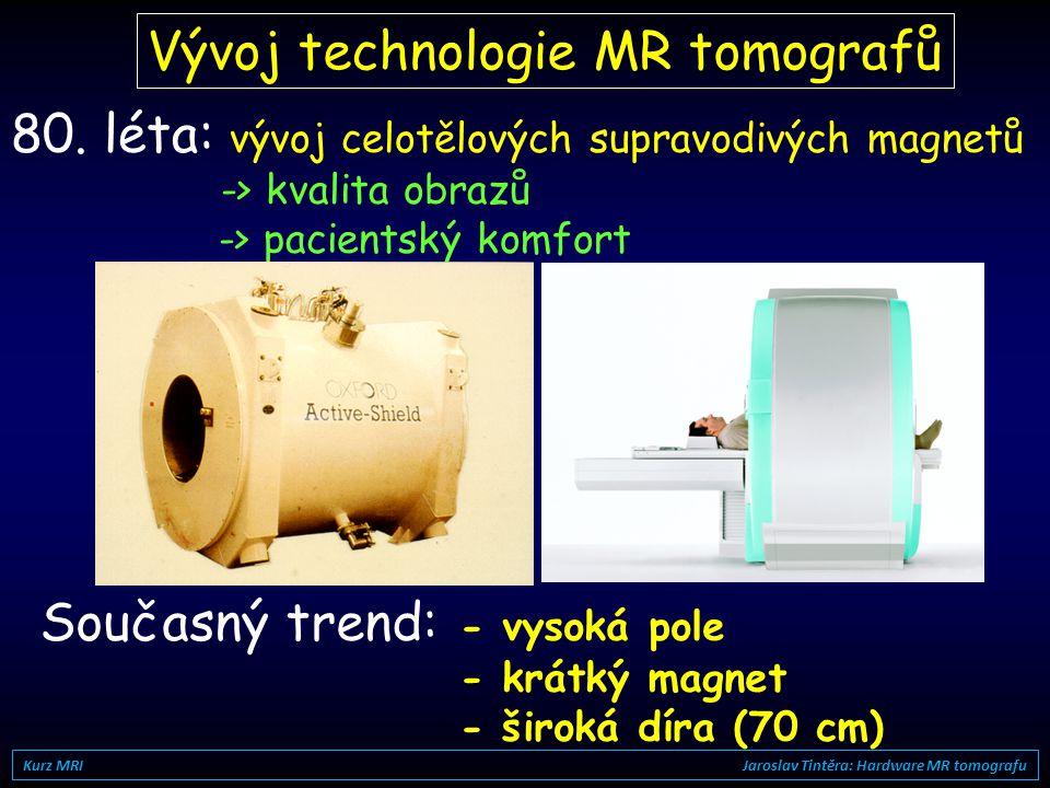 Vývoj technologie MR tomografů