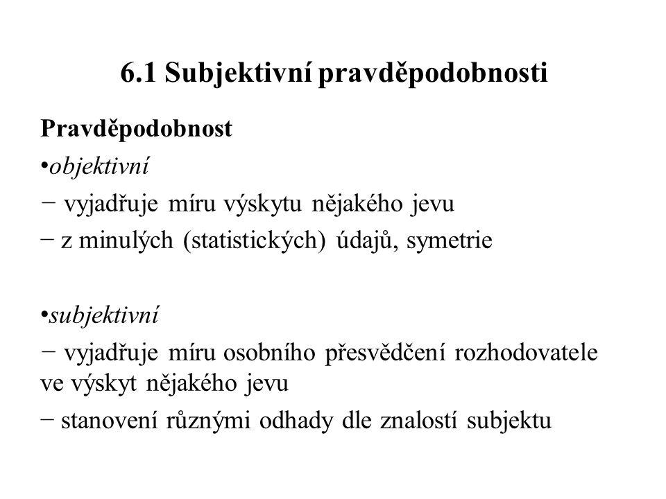 6.1 Subjektivní pravděpodobnosti