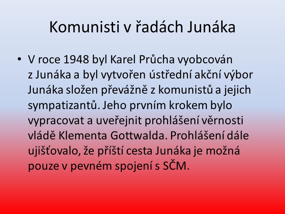 Komunisti v řadách Junáka