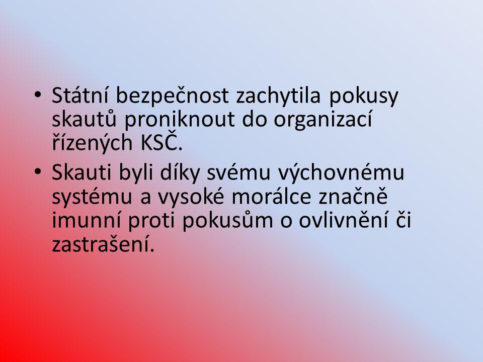 Státní bezpečnost zachytila pokusy skautů proniknout do organizací řízených KSČ.