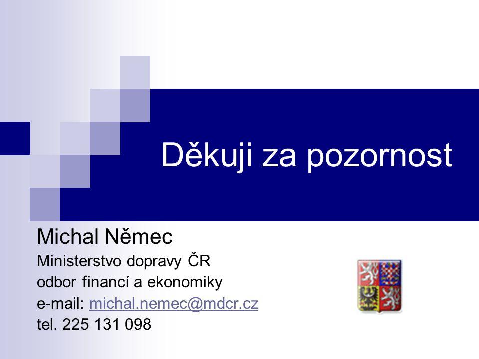 Děkuji za pozornost Michal Němec Ministerstvo dopravy ČR