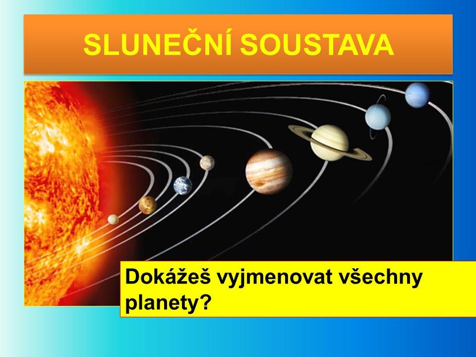 SLUNEČNÍ SOUSTAVA Dokážeš vyjmenovat všechny planety