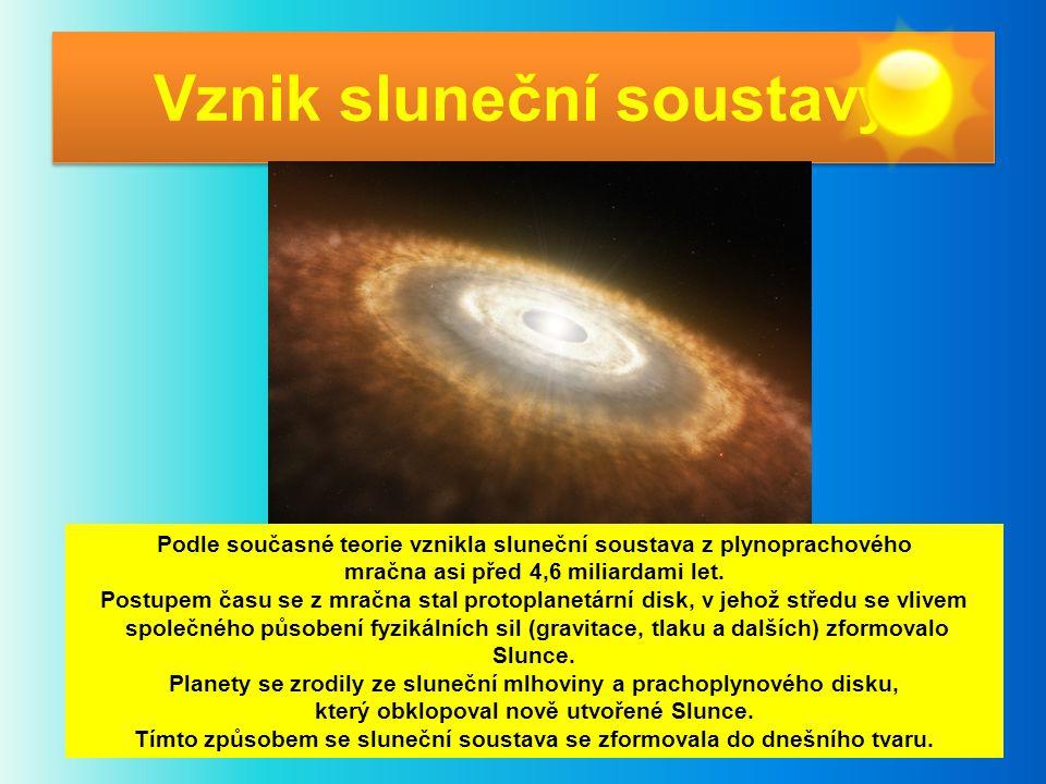 Vznik sluneční soustavy