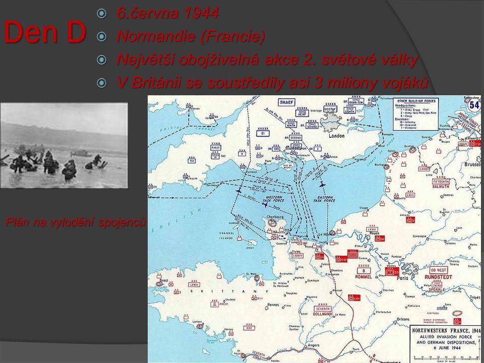 Den D 6.června 1944 Normandie (Francie)