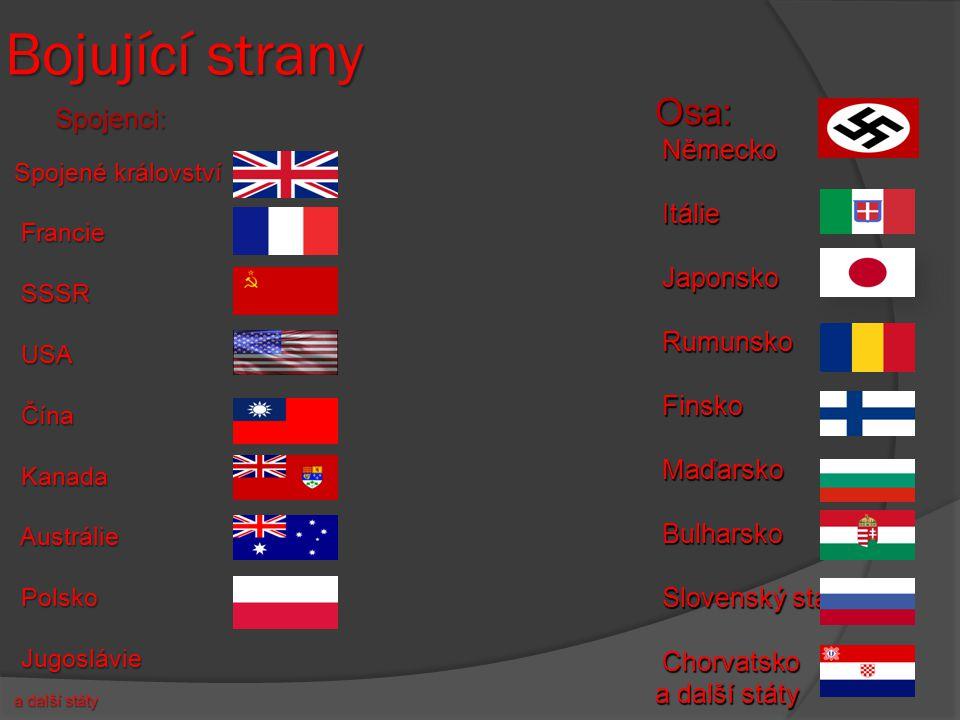 Bojující strany Osa: Spojenci: Itálie Japonsko Rumunsko Finsko