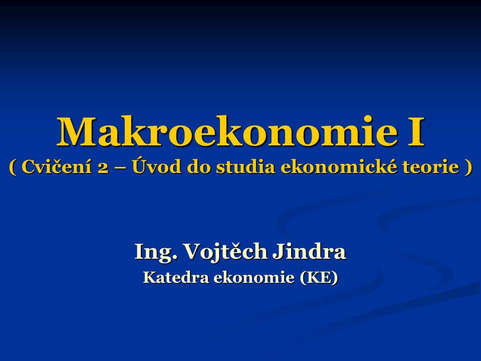 Makroekonomie I ( Cvičení 2 – Úvod do studia ekonomické teorie )
