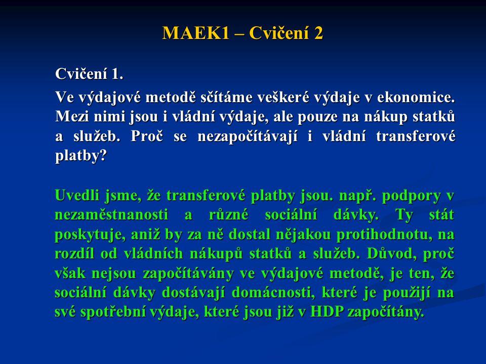 MAEK1 – Cvičení 2