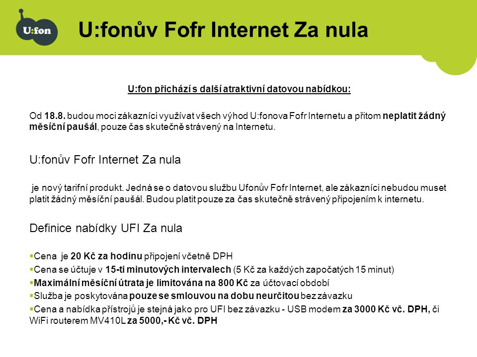 U:fonův Fofr Internet Za nula