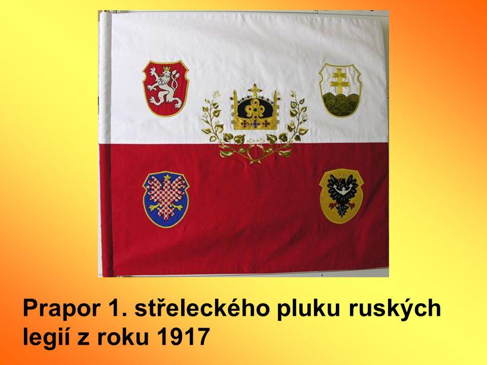 Prapor 1. střeleckého pluku ruských legií z roku 1917