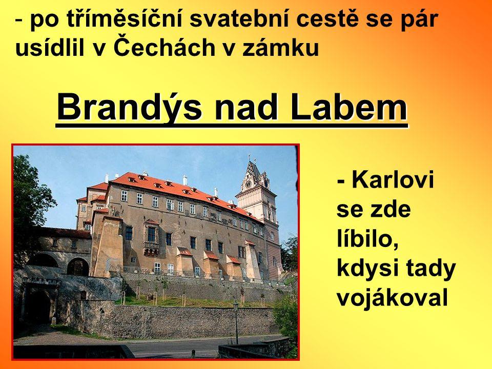 po tříměsíční svatební cestě se pár usídlil v Čechách v zámku