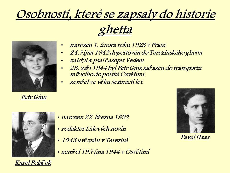 Osobnosti, které se zapsaly do historie ghetta