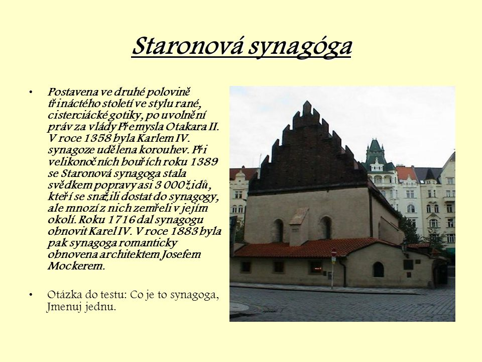 Staronová synagóga