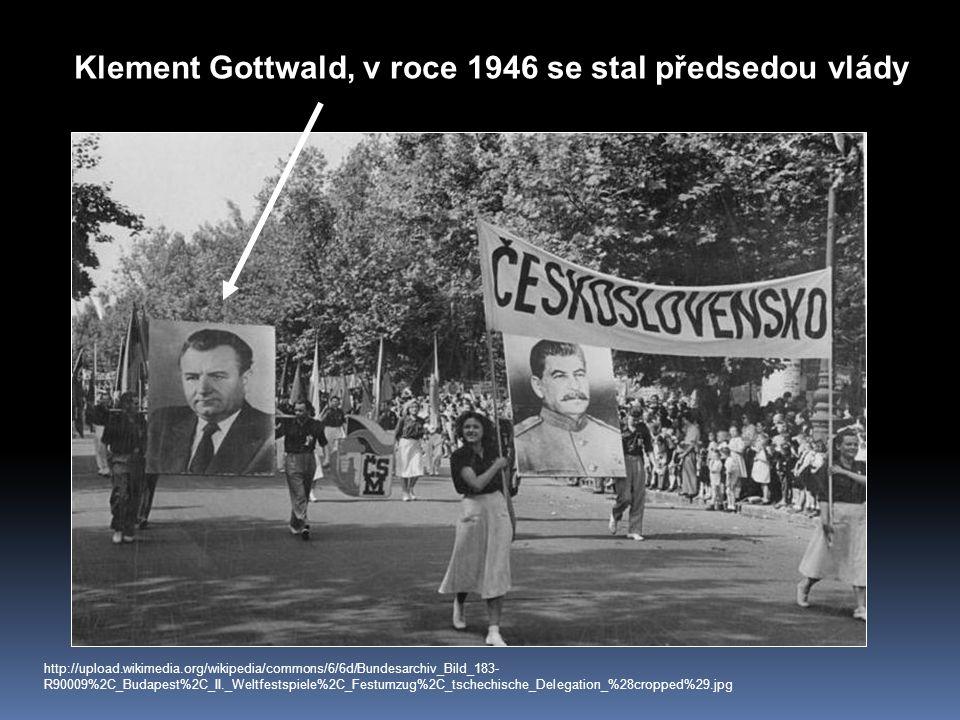 Klement Gottwald, v roce 1946 se stal předsedou vlády