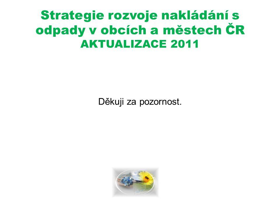 Strategie rozvoje nakládání s odpady v obcích a městech ČR AKTUALIZACE 2011