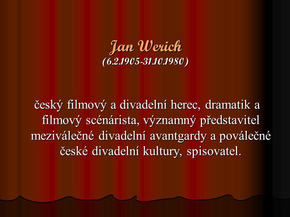 Jan Werich (6.2.1905-31.10.1980)