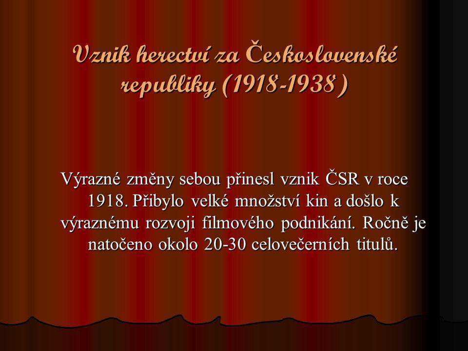 Vznik herectví za Československé republiky (1918-1938)