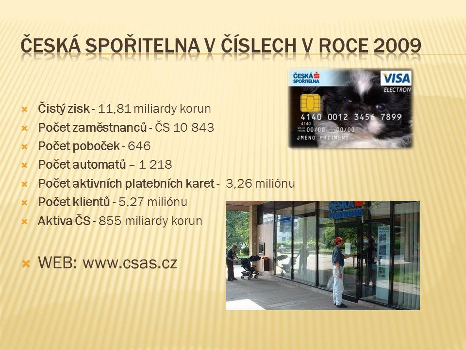 Česká spořitelna v číslech v roce 2009