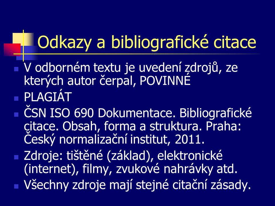 Odkazy a bibliografické citace