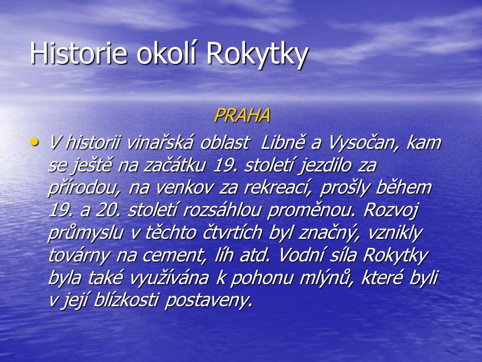 Historie okolí Rokytky