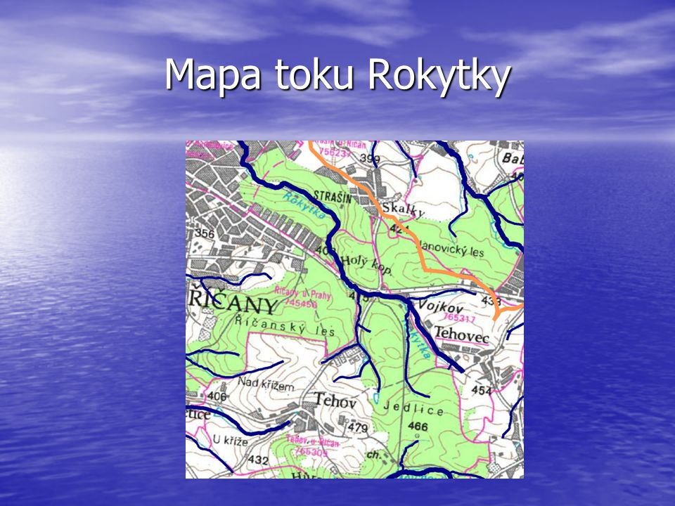 Mapa toku Rokytky