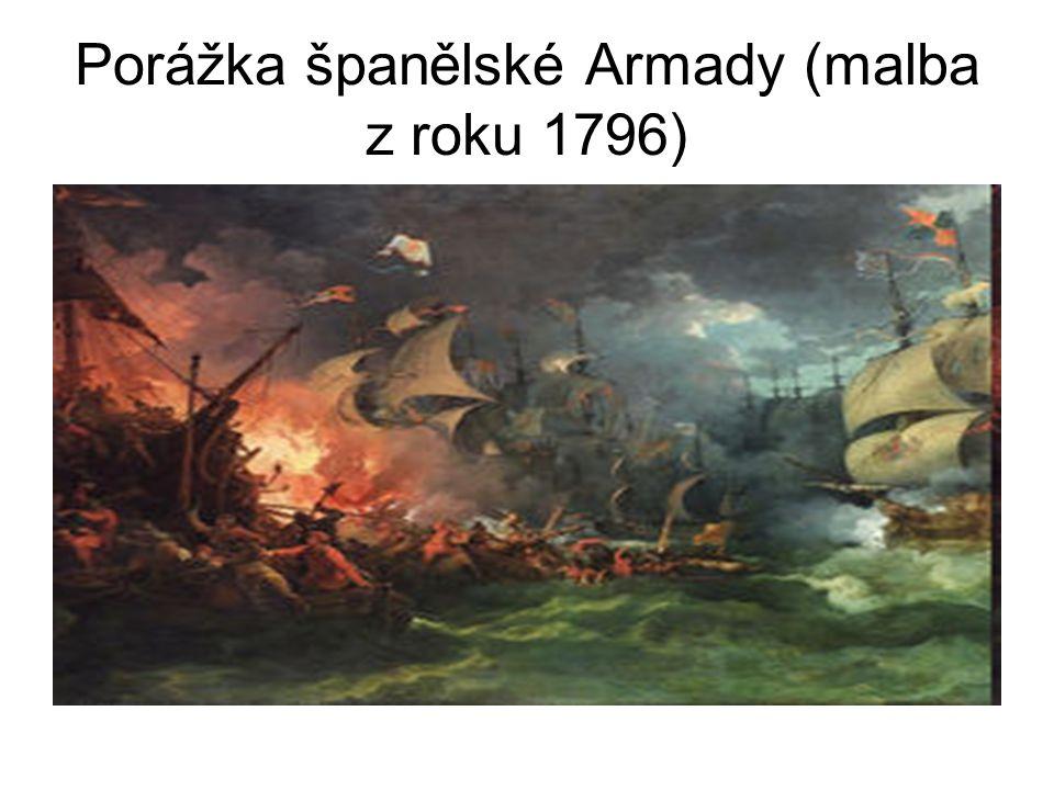 Porážka španělské Armady (malba z roku 1796)