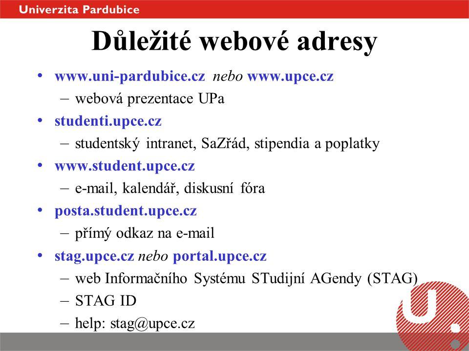 Důležité webové adresy