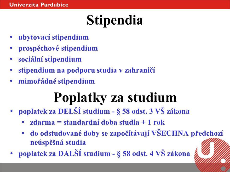 Stipendia Poplatky za studium