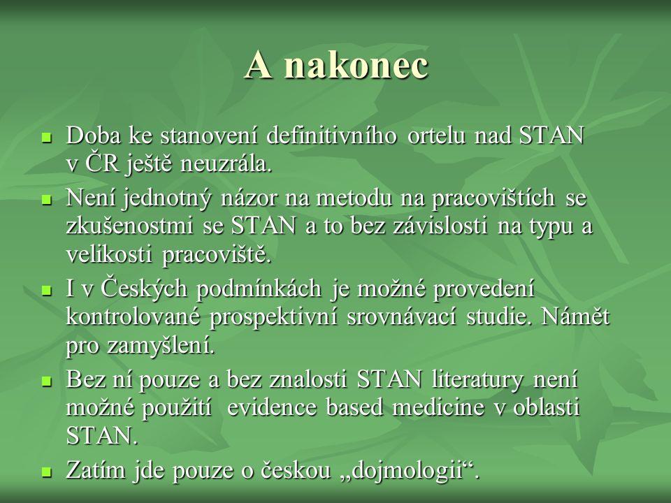 A nakonec Doba ke stanovení definitivního ortelu nad STAN v ČR ještě neuzrála.