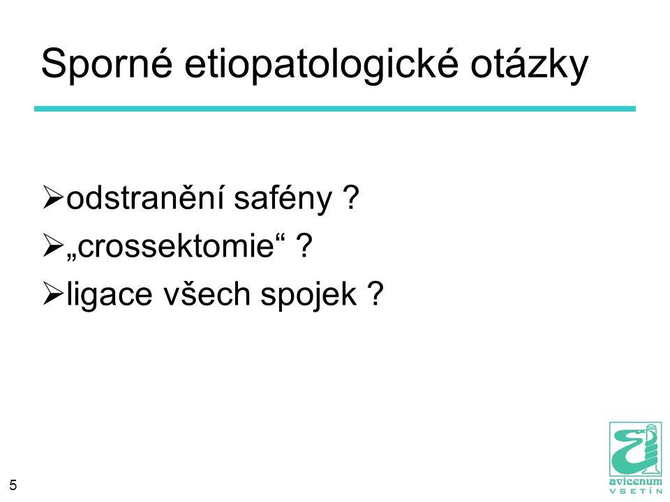 Sporné etiopatologické otázky